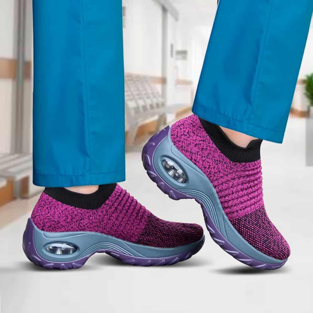 Sairaanhoitajan lilat kengät