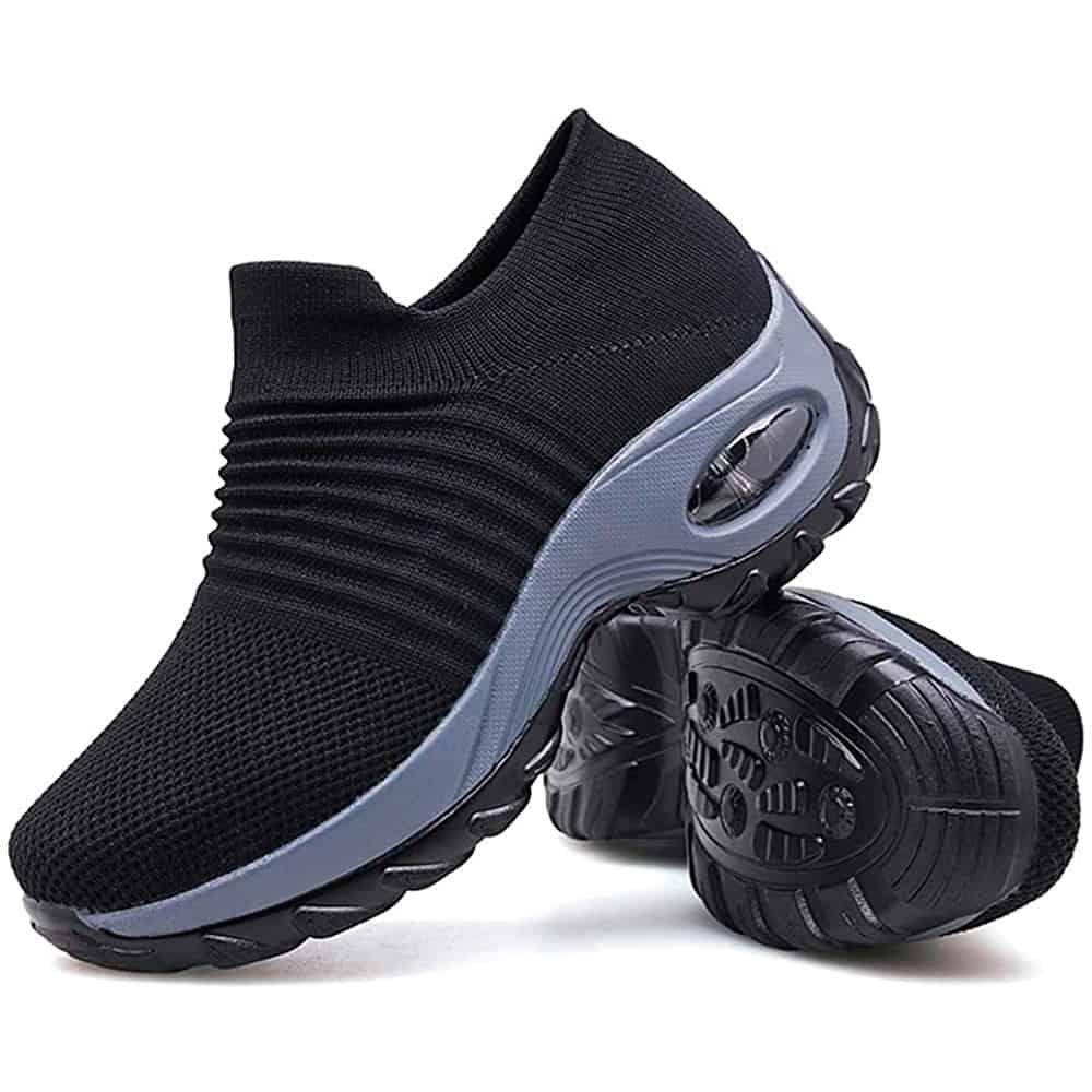 Sairaanhoitajan kengät mustaharmaa