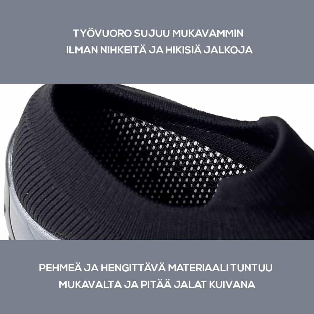 Sairaanhoitajan kengän materiaali