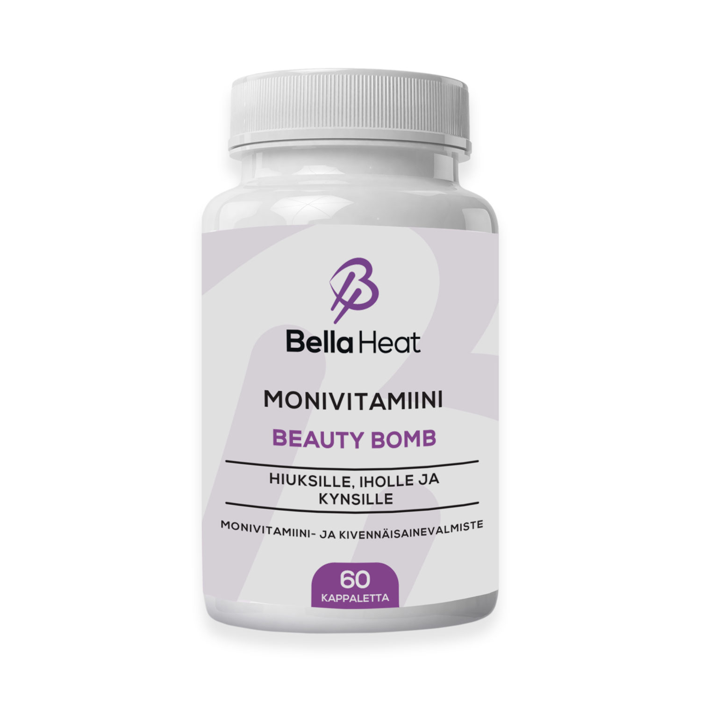 Bella Heat Beauty Bomb monivitamiini hiuksille, iholle ja kynsille.